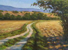 Original oil painting  Tuscany field  Tuscan by PaysageSarazan, $85.00