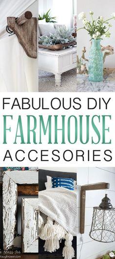 Fabulous DIY Farmhouse Accessories
