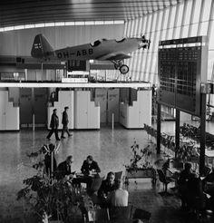 Helsinki-Vantaa airport 1977 - Finna - Helsingin kaupunginmuseo. Kuva: Volker von Bonin  A very dirty airplane, when it was taken down  and back to the museum 2014.