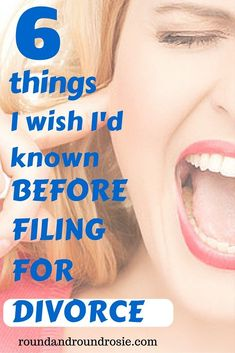 Filing for divorce? 6 things I wish I'd known beforehand. - Round and Round Rosie things I wish I'd known before filing for divorce. If you are in a separation and are getting a divorce, here's some advice before you get started. Knowledge is power! Coping With Divorce, Separation And Divorce, Separation Quotes, Preparing For Divorce, Dating After Divorce, How To Divorce, I Want A Divorce, Divorce Online, Online Dating