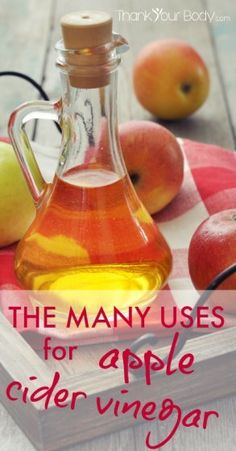 So many uses for apple cider vinegar. This really should be in every pantry.