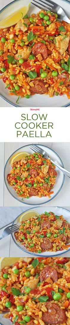 Excellent Take a trip to Spain via your slow cooker. Packed with veggies, protein, and flavor, this Slow Cooker Paella is a dish the entire family will love. The post Slow Cooker Paella appeared first on MIkas Recipes . Slow Cooker Huhn, Slow Cooker Ribs, Slow Cooker Soup, Slow Cooker Chicken, Slow Cooker Recipes, Cooking Recipes, Meal Recipes, Lunch Recipes, Healthy Recipes