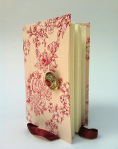 Pink floral Handmade Journal / Diary / Notebook by Newleafjournals. $34.50, via Etsy.