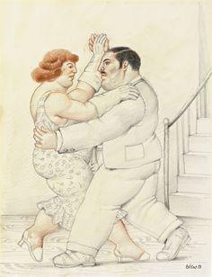 FERNANDO BOTERO (1932) | Dancers - 1993.