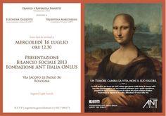 16 luglio h 12.30 Presentazione Bilancio ANT via Jacopo di Paolo