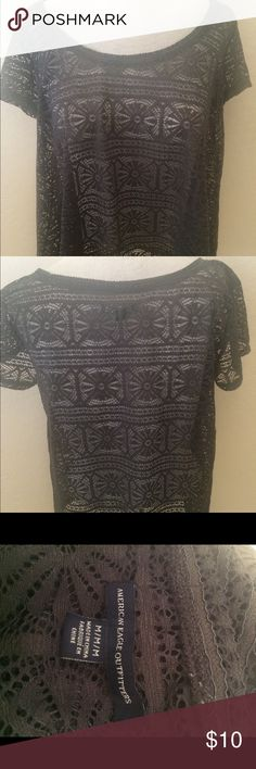 Cute Lace Top This top is made of a beautiful Lace pattern and has a great feel to it.  Has perfect stretch and in great condition. American Eagle Outfitters Tops Blouses