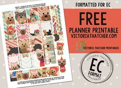 Free Printable Yorkies Planner Stickers from Victoria Thatcher