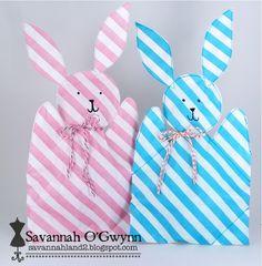 Bitty Bag Bunny gift card holder by @Savannah O'Gwynn