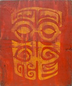 Tiki painted Wood Art - great inspiration for stitchery