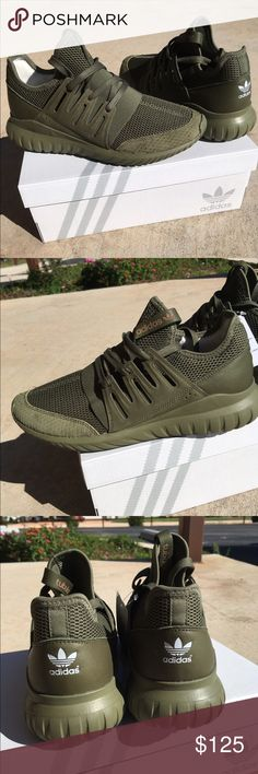 Adidas shoes Custom mi tubular radial adidas shoes for women size 9 in olive cargo color.. gorgeous shoes brand new! Adidas Shoes Athletic Shoes