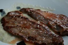 Vacío de ternera con salsa roquefort