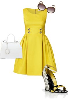 """""""yellow"""" by settingmoon on Polyvore"""