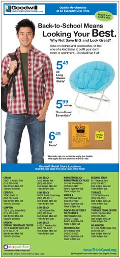 Goodwill Back to School Ad