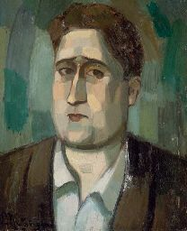 Jean Metzinger (French, 1883-1956) : Portrait of Guillaume Apollinaire, 1910.