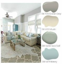 Dorian Gray Family Room Reveal with Gallery Wall. Dorian Gray Family Room Reveal with Gallery Wall. Grey Family Rooms, Family Room Design, Family Room Colors, Bedroom Colors, Paint Color Palettes, Paint Color Schemes, Home Color Schemes, Style At Home, Wall Colors