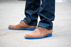 The subtle unexpectancy of a pop of color on a conservative yet trendy shoe - one small step towards making Men's fashion fun and exciting (as it can get)...