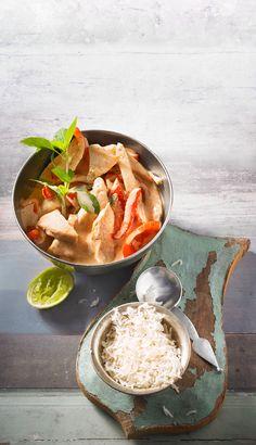 Hühnchenbrustfilet in Curry-Kokosmilch-Soße