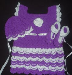 this is crochet dress set for two year old kids