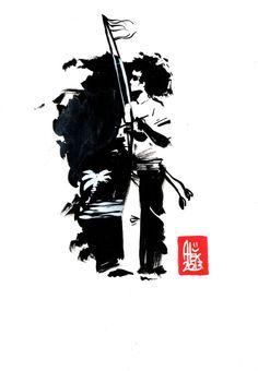 Encres : Capoeira – 458 [ #capoeira #watercolor #illustration]