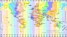 World Map of Time Zones
