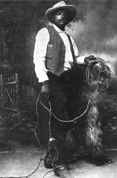 african american cowboys of the old west | ... Rodeo Champion, Star of Wild West Shows, First Black Cowboy Movie Star