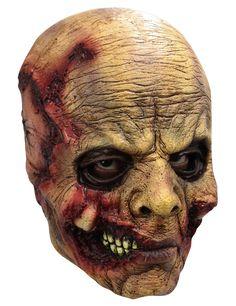 Máscara cabeza descomposición adulto - Halloween: Esta máscara integral es de látex.Esta máscara representa la cabeza de un hombre zombie. La piel está arrugada con sangre y cicatrices.La máscara cubre el rostro y...