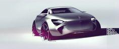 Source: husseinalattar Car Design Sketch, Car Sketch, Design Cars, Transportation Technology, Transportation Design, Futuristic Cars, Car Painting, Automotive Design, Automobile