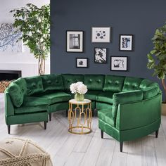 Jazmine Glam 6 Seater Modular Velvet Sectional Sofa by Christopher Knight Home Living Room Sofa, Living Room Furniture, Living Room Decor, Sofa Furniture, Living Rooms, Furniture Deals, Furniture Styles, Cabana, Sofas For Small Spaces