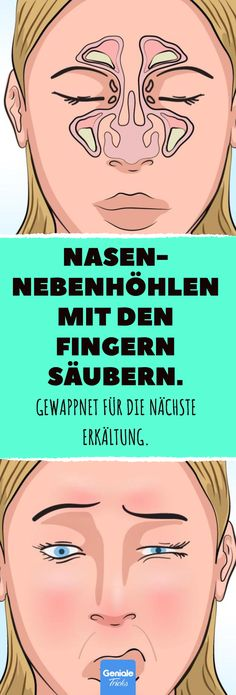 Clean the sinuses with your Nasennebenhöhlen mit den Fingern säubern. Clean the sinuses with your fingers. Healthy Diet Tips, Good Health Tips, Health Advice, Health And Wellness, Health Care, Health Fitness, Health Exercise, Health Diet, Wellness Tips