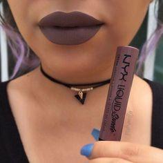 NYX Liquid Suede Lipstick :: BROOKLYN THORN