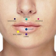 Bijoux Piercing Septum, Lip Piercing Labret, Lower Lip Piercing, Vertical Labret Piercing, Cheek Piercings, Pretty Ear Piercings, Monroe Piercings, Medusa Piercing, Smiley Piercing