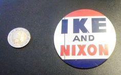 Ike and Nixon button