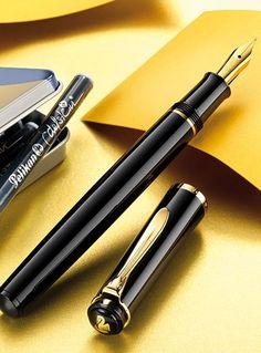 Pelikan Classic Fountain Pen -- a cartridge/converter version of their popular piston-fill Pelikan Fountain Pen, Fountain Pen Ink, Pelikan Pens, Expensive Pens, Pen Store, Luxury Pens, Wallet With Coin Pocket, Writing Pens, Dip Pen