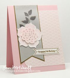 I Create: Happy Birthday card  #stampinup