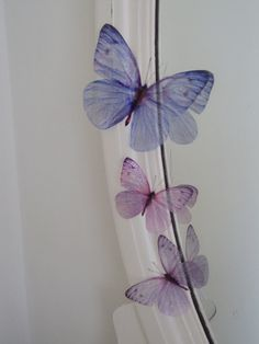 3  sizes Sparkling Girls Fairy Dust Bedroom 3d Flying Butterfly Accessories