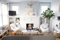 A Bright and Beautiful Home in Nashville   Design*Sponge - Built-ins
