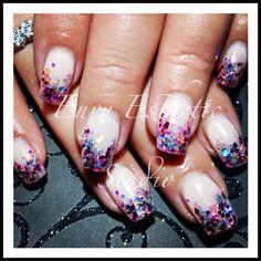 #nails #nailart #sparklenails #colorfulnails #gelnails