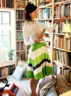 Love It or Leave It: Bright Striped Skirt | SocialCafe Magazine