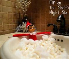 Bubble baths relax...what can an elf on the shelf possibly be stressed out about?