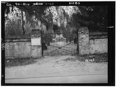 March 1934 CEMETERY GATE - Midway Congregational Church, Midway, Liberty County, GA  Source: Library of Congress
