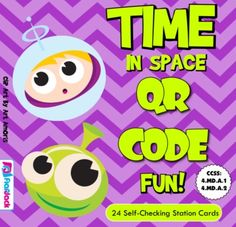 ($) Time in Space Conversions QR Code Fun -This title is aligned with common core standards 4.MD.A.1 and 4.MD.A.2 and contains 24 self-checking task cards for students to practice unit facts and conversions with seconds, minutes, hours, days, weeks, months, and years. Word problems are included and a recording sheet is also provided for students to check their work.  QR codes highly engage my students and help them become independent learners. These cards are great for centers, work…
