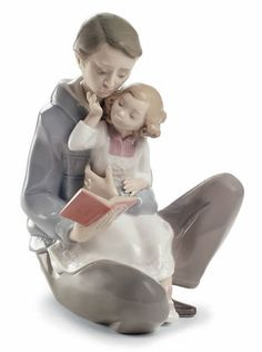 Read Me a Story-Father Daughter NAO Figurine. Shop the entire NAO by LLadro Porcelain Figurines Collection at AllSculptures.com