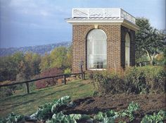 Charlottesville, Virginia - Thomas Jefferson's Monticello - This garden pavilion - a 1984 reconstruction base on archaeological findings and Jefferson's notes - overlooks his agricultural experiments as well as a wider vista from his mountaintop aerie.