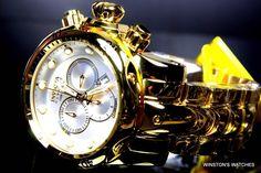 Men's Invicta Reserve Venom 14505 High Polished Gold Plated Swiss Made Watch New | eBay