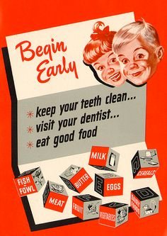 National Dairy Council, 1953. Central Jersey Pediatric Dentistry & Orthodontics - www.kiddent.com