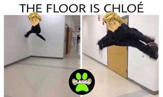 The floor is Chloe Chloe Bourgeois, Chat Noir. MLB Credits to plahgg on ig