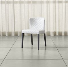 Curran Quilted Oyster Dining Chair | Crate and Barrel