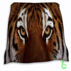 Tigers face eye cat Blanket cheap and best quality. *100% money back guarantee