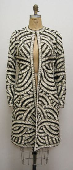 Coat Oscar de la Renta (American) ca. spring/ summer 2006 silk, jet, synthetic, cotton