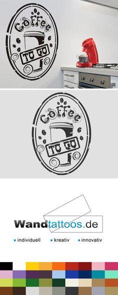 Wandtattoo Button Coffee to go als Idee zur individuellen Wandgestaltung. Einfach Lieblingsfarbe und Größe auswählen. Weitere kreative Anregungen von Wandtattoos.de hier entdecken!